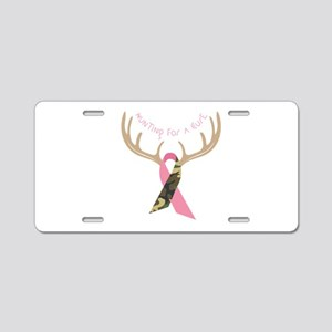 Hunting For A Cure Aluminum License Plate