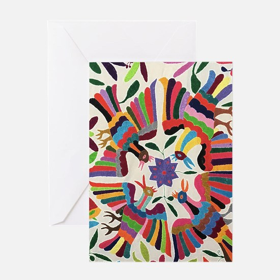 Otomi Birds Greeting Cards