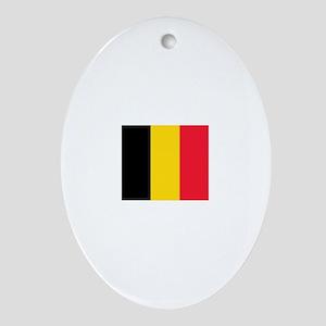 belgium flag Oval Ornament