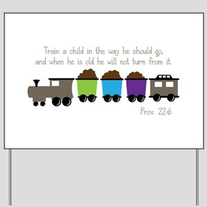 Train A Child Yard Sign