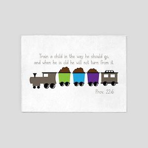 Train A Child 5'x7'Area Rug