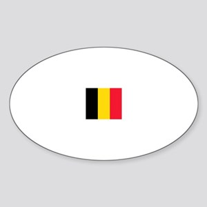 belgium flag Oval Sticker
