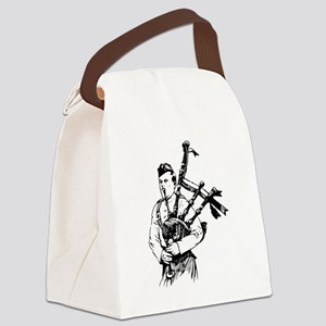 Man Playing Bagpipes Musical Inst Canvas Lunch Bag