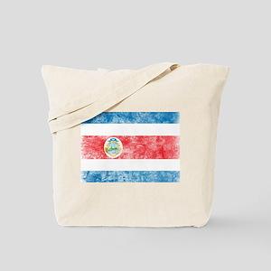Vintage Costa Rica Flag Tote Bag