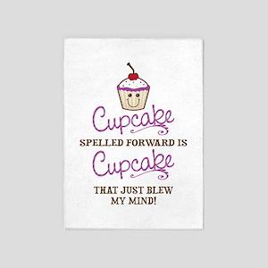 Funny Cupcake 5'x7'Area Rug