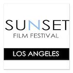 Sunset Film Festival Los Angeles Square Car Magnet