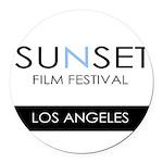 Sunset Film Festival Los Angeles Round Car Magnet