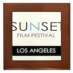 Sunset Film Festival Los Angeles Framed Tile