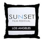 Sunset Film Festival Los Angeles Throw Pillow
