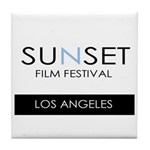Sunset Film Festival Los Angeles Tile Coaster
