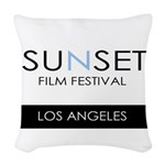 Sunset Film Festival Los Angeles Woven Throw Pillo