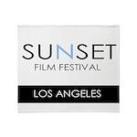 Sunset Film Festival Los Angeles Throw Blanket