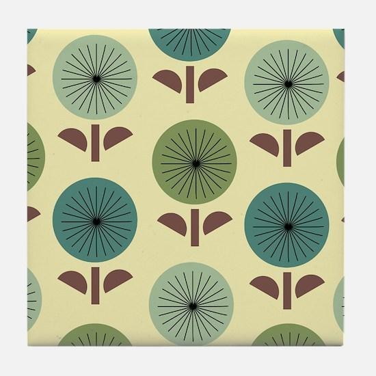 Atomic Dandelions Tile Coaster