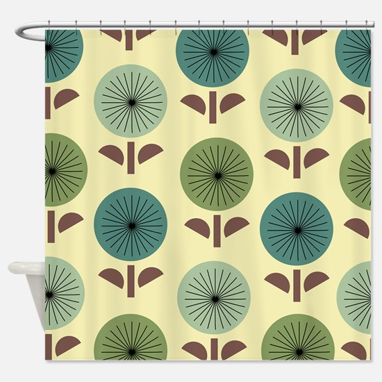 Atomic Dandelions Shower Curtain