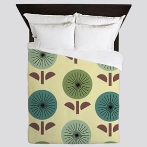Atomic Dandelions Queen Duvet