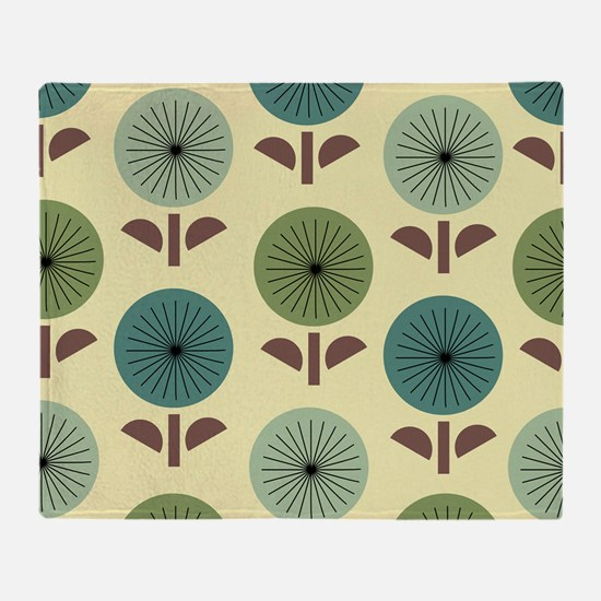 Atomic Dandelions Throw Blanket