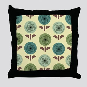 Atomic Dandelions Throw Pillow