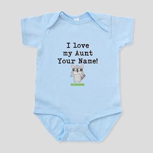 I Love My Aunt Raccoon (Custom) Body Suit
