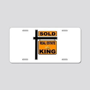 REALTOR KING Aluminum License Plate