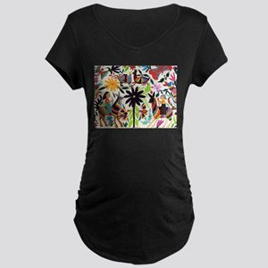 Otomi ladies on horses Maternity T-Shirt