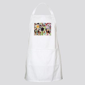 Otomi ladies on horses Light Apron