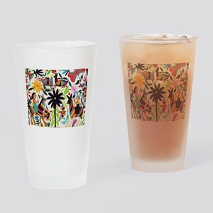 Otomi ladies on horses Drinking Glass