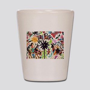 Otomi ladies on horses Shot Glass