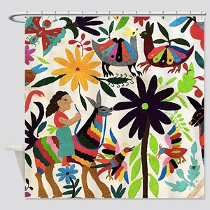 Otomi Ladies On Horses Shower Curtain