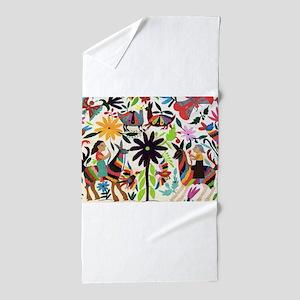 Otomi Las On Horses Beach Towel