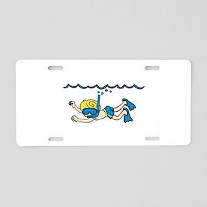 Snorkeler Underwater Aluminum License Plate