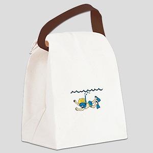 Snorkeler Underwater Canvas Lunch Bag