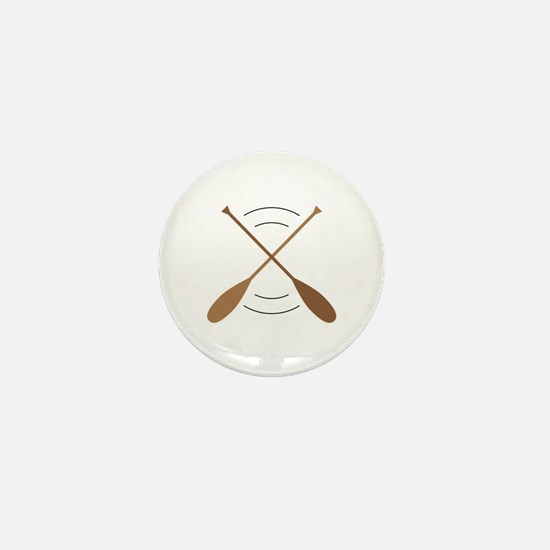 Crossed Canoe Paddles Mini Button