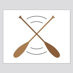 Crossed Canoe Paddles Posters
