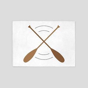 Crossed Canoe Paddles 5'x7'Area Rug