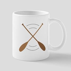 Crossed Canoe Paddles Mugs