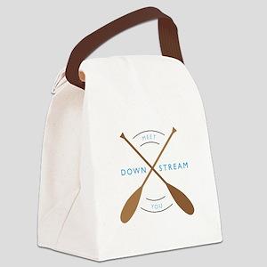 Meet you down stream Canvas Lunch Bag