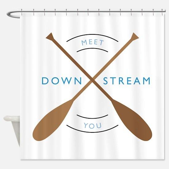 Meet you down stream Shower Curtain