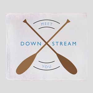 Meet you down stream Throw Blanket