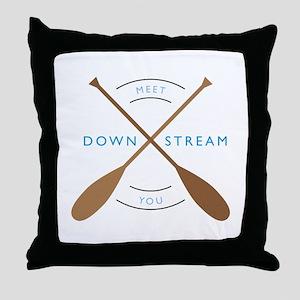 Meet you down stream Throw Pillow