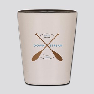 Meet you down stream Shot Glass