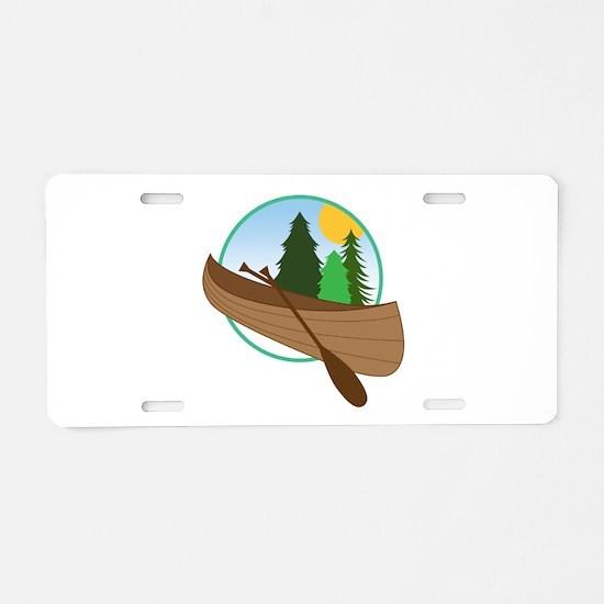Canoe Logo Aluminum License Plate