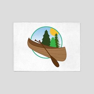 Canoe Logo 5'x7'Area Rug