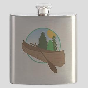 Canoe Logo Flask