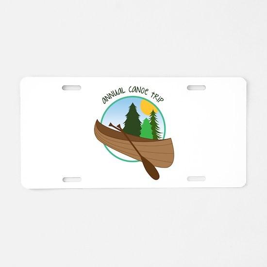 Annual Canoe Trip Aluminum License Plate