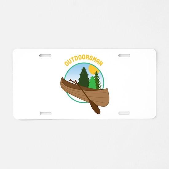 Outdoorsman Aluminum License Plate