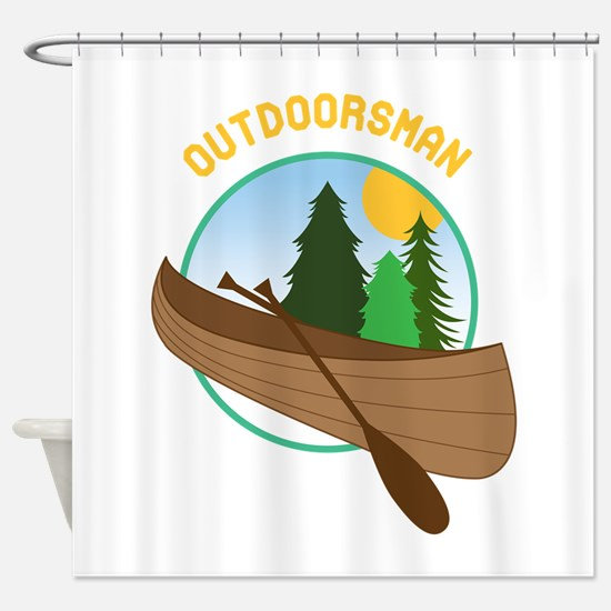 Outdoorsman Shower Curtain