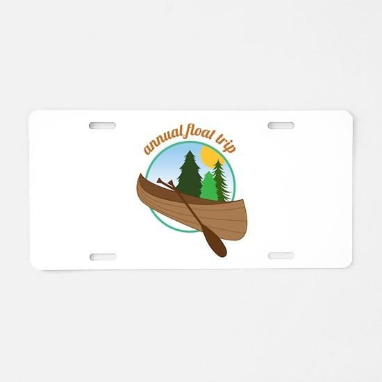 Annual Float Trip Aluminum License Plate