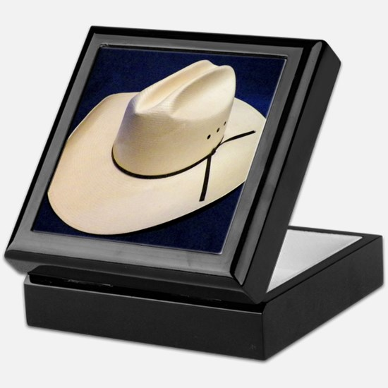 Straw Stetson Keepsake Box