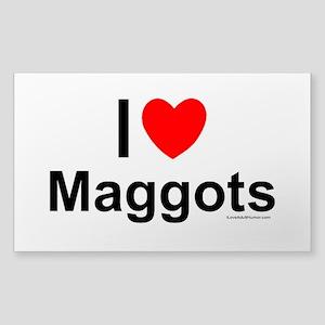 Maggots Sticker (Rectangle)