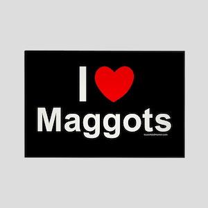 Maggots Rectangle Magnet